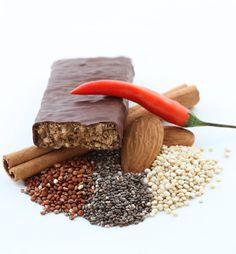 Keen-Wah Decadence  The dark chocolate coating lends a sweet edge to the savory health food core,
