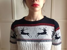 North Fair Isle Christmas Winter Jumper Vintage-Vibe Knitwear by Madeleinette on Etsy