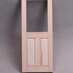 How to Make Raised Panels for Dollhouse Doors and Walls: Make Miniature Scale Raised Panels for Dolls House Doors and Walls