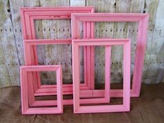 Shabby Chic Pink Frames Distressed Frames by ShayesChicDecorNMore, $67.00