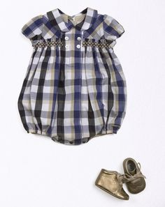 90c79662ac05 Smocked baby boy s romper - not so crazy about the fabric
