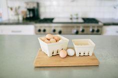 Cream Berry Basket