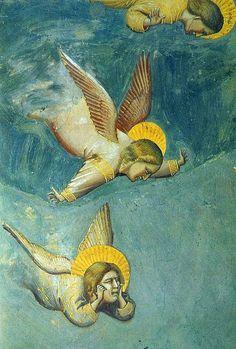 Giotto - Cappella degli Scrovegni - Padova - Passione di Cristo - dettaglio Il compianto su Cristo morto - affresco - 1305 circa