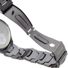 Men's Quartz Black Wrist Steel Band Watch