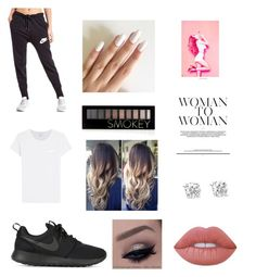 """""""Bum day✌️"""" by emmaraej on Polyvore featuring NIKE, rag & bone, Forever 21 and Lime Crime"""