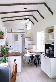 This is the Coastal Craftsman Tiny House on Wheels by Handcrafted Movement out of Portland Oregon. This is the Coastal Craftsman Tiny House on Wheels by Handcrafted Movement out of Portland Oregon. […] Homes On Wheels prices House Design, House, Small Spaces, Home, Small Room Design, Tiny Living Rooms, House Interior, Trailer Home, Modern Tiny House