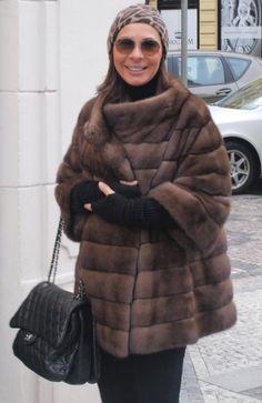 Nice lady posing Me in Her mink jacket(have lot furs-fox,minks etc).