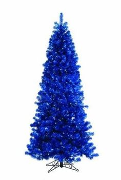 Sterling Blue Tinsel Christmas Tree with Blue: Amazon.com: Home & Kitchen