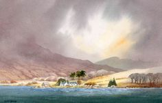 'Loch Kishorn' by David Bellamy. Watercolour on Saunders Waterford HP 300gsm paper. www.davidbellamy.co.uk