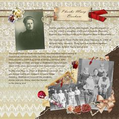 Ancestry Scrapbooking Layouts | Digital Scrapbooking by blushbutter - An amazing Heritage Scrapbook ...