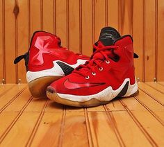more photos e91a6 b8d1a Nike Lebron XIII PS 13 James on Court Away Preschool Basketball Shoes 808710-610  2.5 Y for sale online   eBay