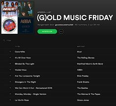 (G)OLD MUSIC FRIDAY Gouwe Ouwe Muziek neemt elke vrijdag een duik in de muziekgeschiedenis: 40 popklassiekers in de (G)old Music Friday! open.spotify.com/user/gouweouwemuziek/playlist/2b3jllBGzPPQ3UeTP8MWvW