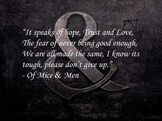 Of Mice And Men Quotes Adorable Of Mice And Men Quotes  Google Search  Of Mice And Men  Pinterest