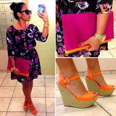 Cute summer outfit. #orange #Olivia #jerseylicious