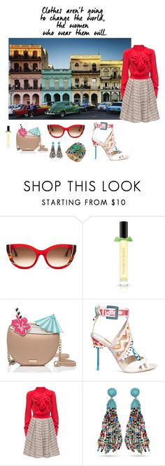 """Cuba Style"" by fashionfan-8 ❤ liked on Polyvore featuring Thierry Lasry, Kate Spade, Sophia Webster and Lattori"