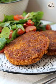 Burger de protéines de soja texturées - La Fée Stéphanie