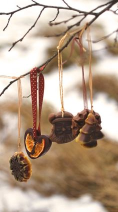 Handmade Aroma Ornaments - Christmas Chocolate Collection 5 Natural Beeswax Decorations