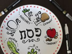 Homemade Passover Seder Plate ~    A Passover craft that is sure to get your kids excited!