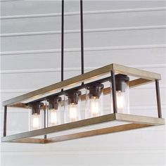 Indoor/Outdoor Rectangular Rustic Chandelier