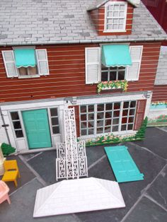 1960's Marx Tin lithographed Doll House w Furniture | eBay