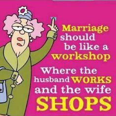 Mariage = workshop :-)