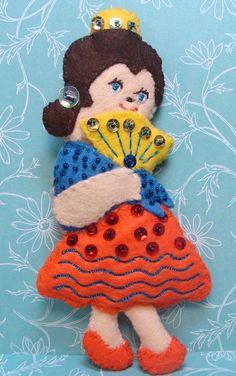 Spanish Chocolate Nutcracker Ballet Character Wool Felt Ornament