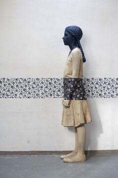 """""""Willy Verginer is a specialist creating carved wood sculptures. His works where the wooden sculptures figures of people are painted."""""""