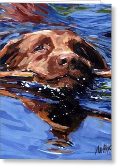 Strong Swimmer Canvas Print by Molly Poole. All canvas prints are professionally printed, assembled, and shipped within 3 - 4 business days and delivered ready-to-hang on your wall. Choose from multiple print sizes, border colors, and canvas materials. Animal Paintings, Animal Drawings, Art Drawings, Dog Artist, Water Art, Tier Fotos, Watercolor Animals, Dog Portraits, Painting Inspiration