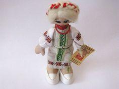 Ukrainian doll hand embroidered face cloth doll by GabYhandmade, $44.80