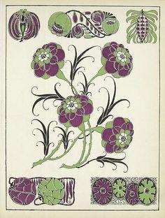 Art Deco Vignettes - Henri Gillet 1922 h Web Gallery Of Art, Morris, Art Nouveau Design, Illustrations, Arts And Crafts Movement, Illuminati, Embroidery Art, Botanical Illustration, Vignettes