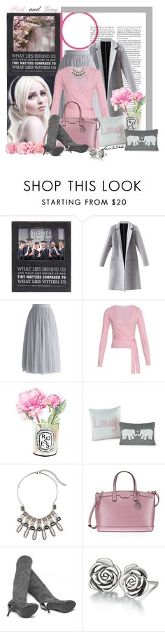 """""""Pink and Gray"""" by smile24k ❤ liked on Polyvore featuring Chicwish, Diane Von Furstenberg, Diptyque, VCNY, Chico's, Henri Bendel and Chamilia"""