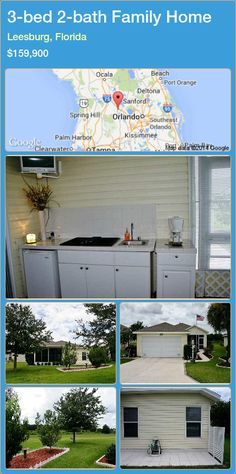 3-bed 2-bath Family Home in Leesburg, Florida ►$159,900 #PropertyForSaleFlorida http://florida-magic.com/properties/54988-family-home-for-sale-in-leesburg-florida-with-3-bedroom-2-bathroom