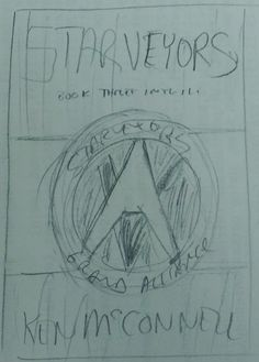 The first sketch I have drawn of the Starveyors novel cover art. Keep The Peace, Cover Art, Novels, This Book, Sketch, Draw, Books, Wedding Ring, Sketch Drawing