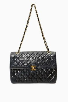 d2e99ff12166 Vintage Chanel Quilted Leather Chain Purse on every girl s wishlist Vintage  Bags