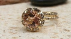Unique Engagement Ring and Diamonds Wedding Ring by SeaofLoveee