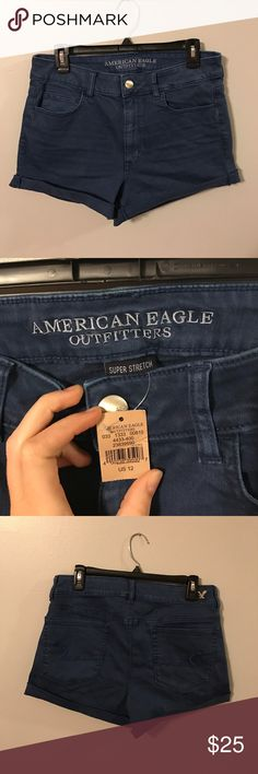 American eagle shorts Blue American eagle shorts. Brand new, tag still on them. Size 12. Feel free to make an offer. Bundle to save!💕 American Eagle Outfitters Shorts