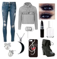 """""""Untitled #104"""" by merebear16 ❤ liked on Polyvore featuring Ally Fashion, Frame Denim, Essie, Carolina Glamour Collection, Betsey Johnson and Beats by Dr. Dre"""