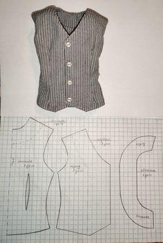 Barbie Clothes Patterns, Doll Dress Patterns, Clothing Patterns, Sewing Patterns, Fashion Sewing, Fashion Dolls, Sewing Blouses, Sewing Lessons, Diy Clothing