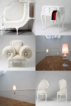 Korean artist Lila Jang has created stunningly creative and surreal versions of 18th-century French furniture.   http://luxartinstitute.org/Artist-Residency/Lila-Jang