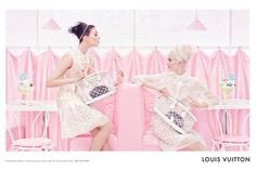 One infamous print is the Louis Vuitton monogram - we love the fun and girly textured style of the Summer 2012 campaign images.