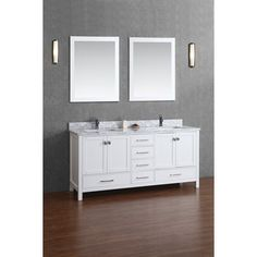 """Vincent 72"""" Solid Wood Double Bathroom Vanity (free shipping)"""