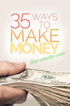 These are 35 ways you can #make money from home that actually work!  I have actually tried and done most of these myself and can attest that they are legitimate money-making ideas.