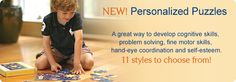 Add a personal touch to your child's toy collection with personalized puzzle. Every puzzle from I See Me! is made with sturdy recycled laminated cardboard. Personalized Books For Kids, Personalized Puzzles, Puzzle Books, Book Gifts, Fine Motor Skills, Self Esteem, Problem Solving, Ebooks, Children