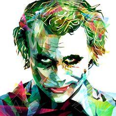Joker / Batman / why so serious - Digigraphy 27X27in Copyright ©Mathieu Questel 2016