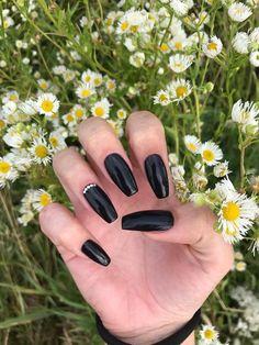 #blacknails # flowers #summer # longnails