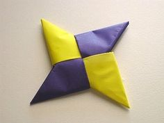 Origami Ninja Star, easy to follow instructions. My Son is so good at making these! He made me some for my kids at school, they have to try to throw and get them in the bucket and count as they go. They love it. :)