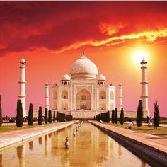Startonight Canvas Wall Art Taj Mahal, Cities USA Design for Home Decor, Dual View Surprise Artwork Modern Framed Ready to Hang Wall Art 31.5 X 31.5 Inch 100% Original Art Painting!