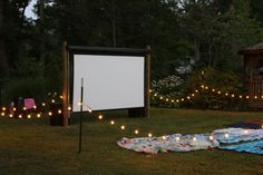 Backyard theater projector setup Tutorial  Camp party idea! Description from pinterest.com. I searched for this on bing.com/images
