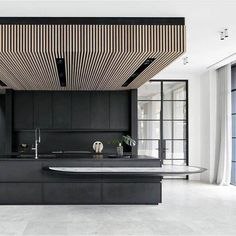 Go beyond utilitarian function and discover luxury cooking spaces with the top 70 best modern kitchen design ideas. Explore chef driven interiors and decor. Bulkhead Kitchen, Timber Kitchen, Kitchen Cupboards, Rustic Kitchen Design, Home Decor Kitchen, Interior Design Kitchen, Kitchen Ideas, Layout Design, Küchen Design