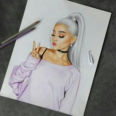 ariana grande let's take both of our souls and intertwine - - - This is my best drawing and i'm never going to top it so i hope you guys love it Tumblr Drawings, Girly Drawings, Pencil Art Drawings, Love Drawings, Art Sketches, Drawing Art, Ariana Grande Drawings, Ariana Grande Wallpaper, Cute Girl Drawing